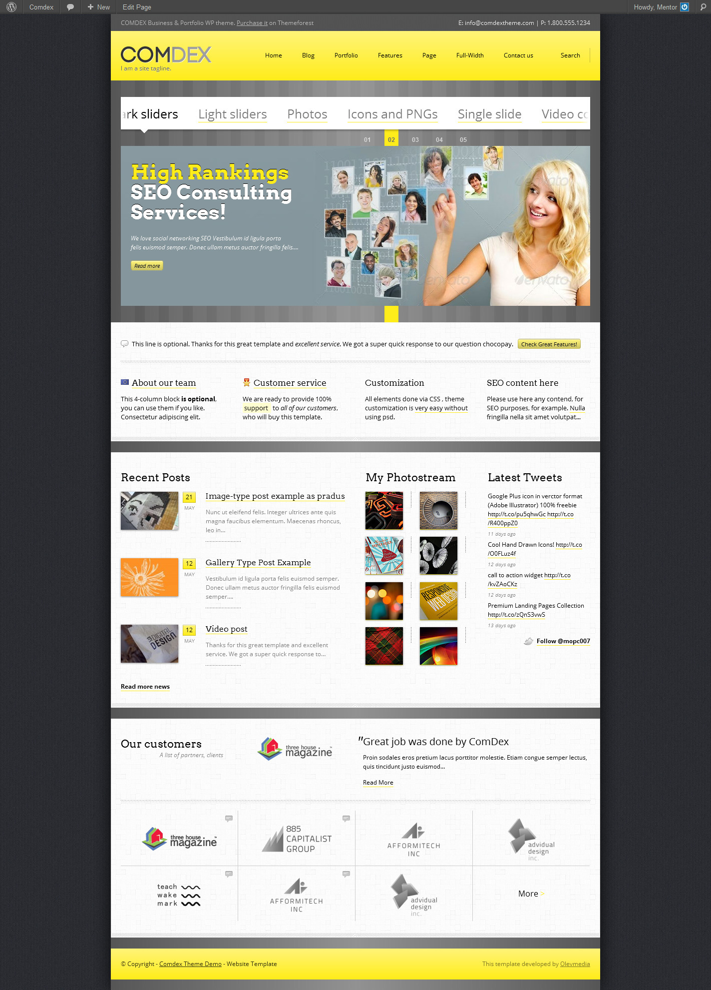 Comdex — Responsive WordPress Theme