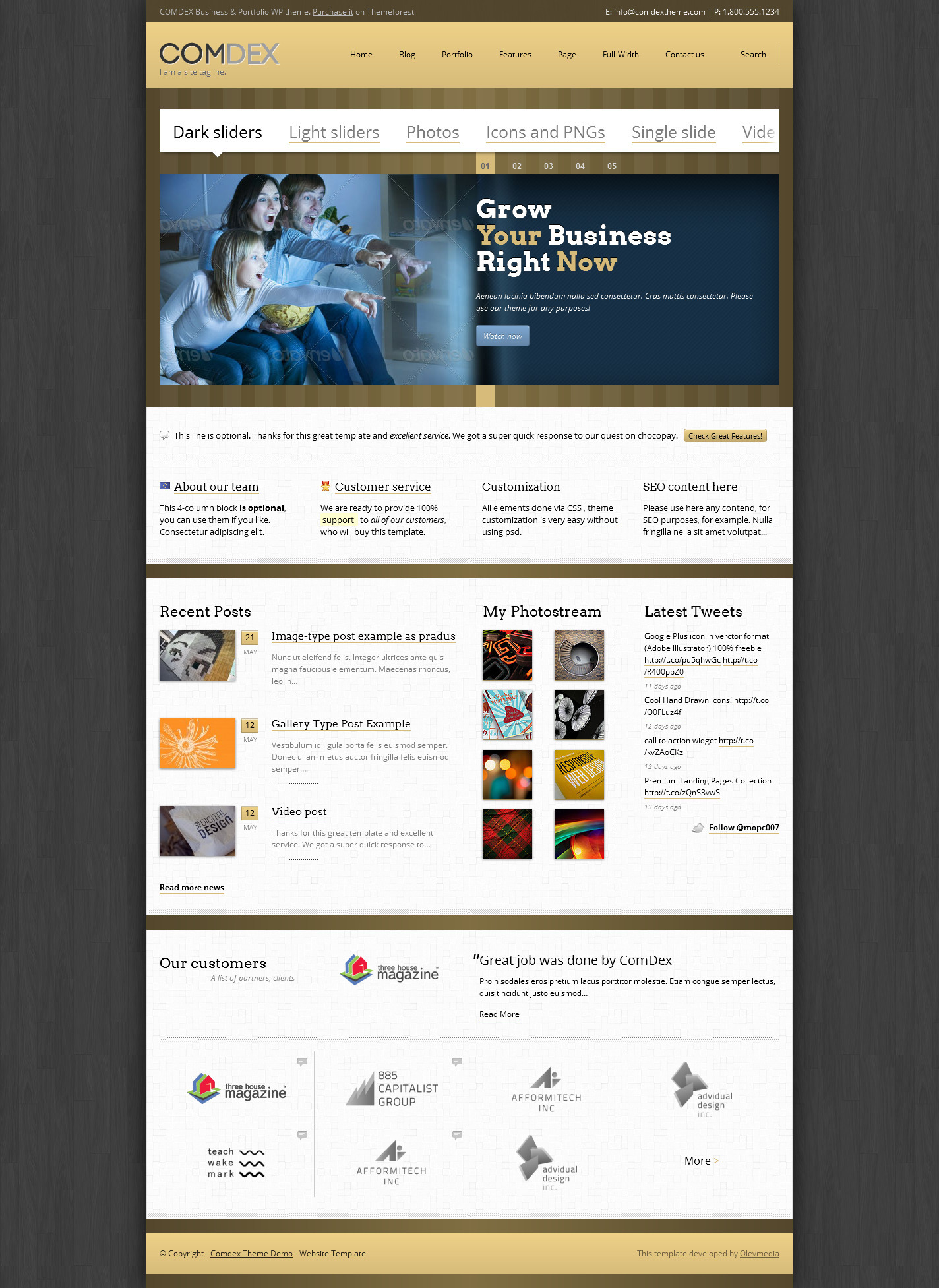 Comdex  Responsive WordPress Theme