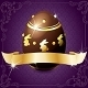 Elegant Banner With Chocolate Egg in Purple &amp;amp; Gold - GraphicRiver Item for Sale
