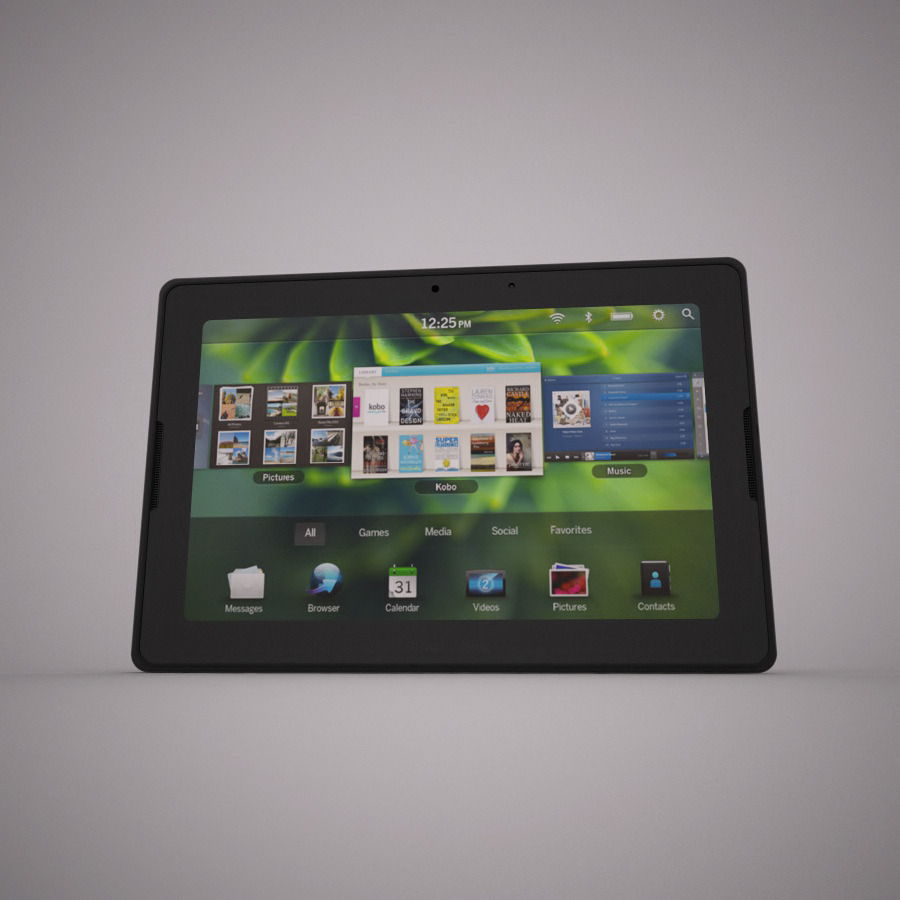 Realistic Blackberry Playbook Model for Vray.
