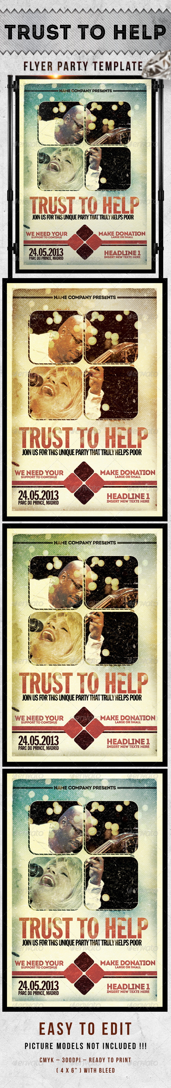 Trust To Help Flayer Template  - Events Flyers