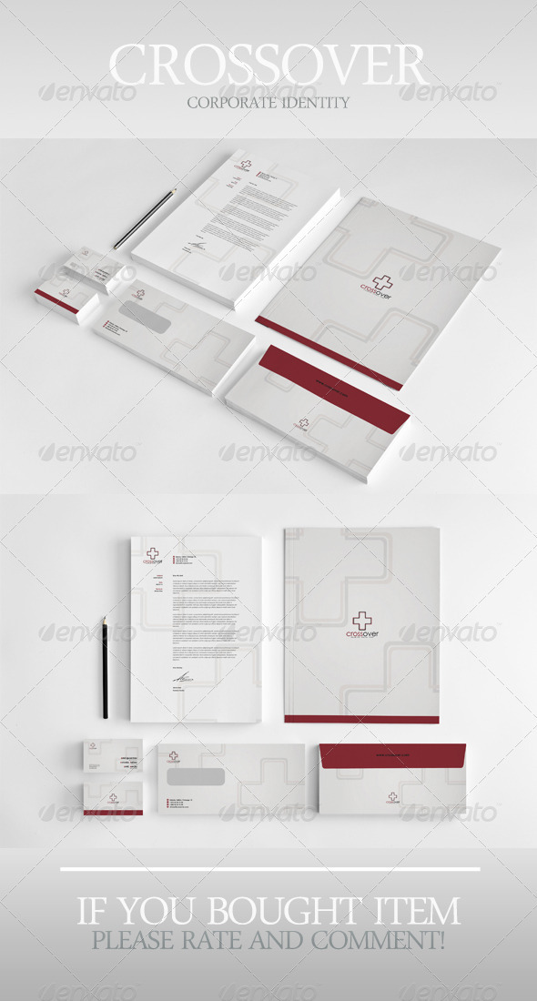 Crossover Corporate Identity - Stationery Print Templates