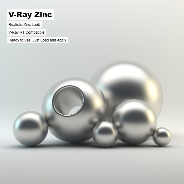 V-Ray Zinc Material - 3DOcean Item for Sale