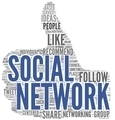 Social network in tag cloud on white - PhotoDune Item for Sale