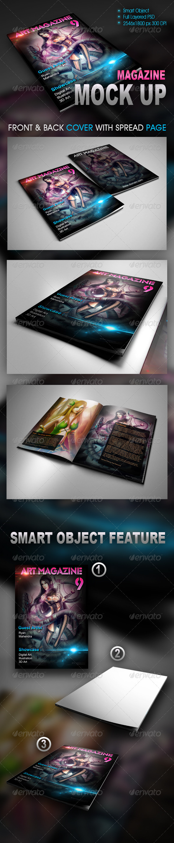 magazine, mock-up, mockup, template