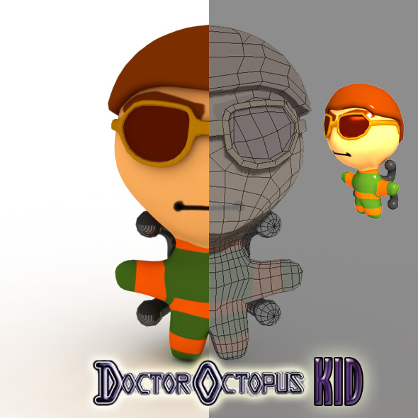 Doctor Octopus Kid Model - 3DOcean Item for Sale