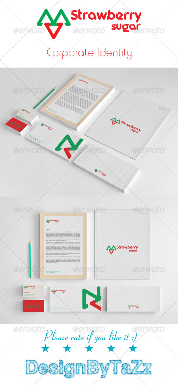 Strawberry Corporate Identity Package - Stationery Print Templates