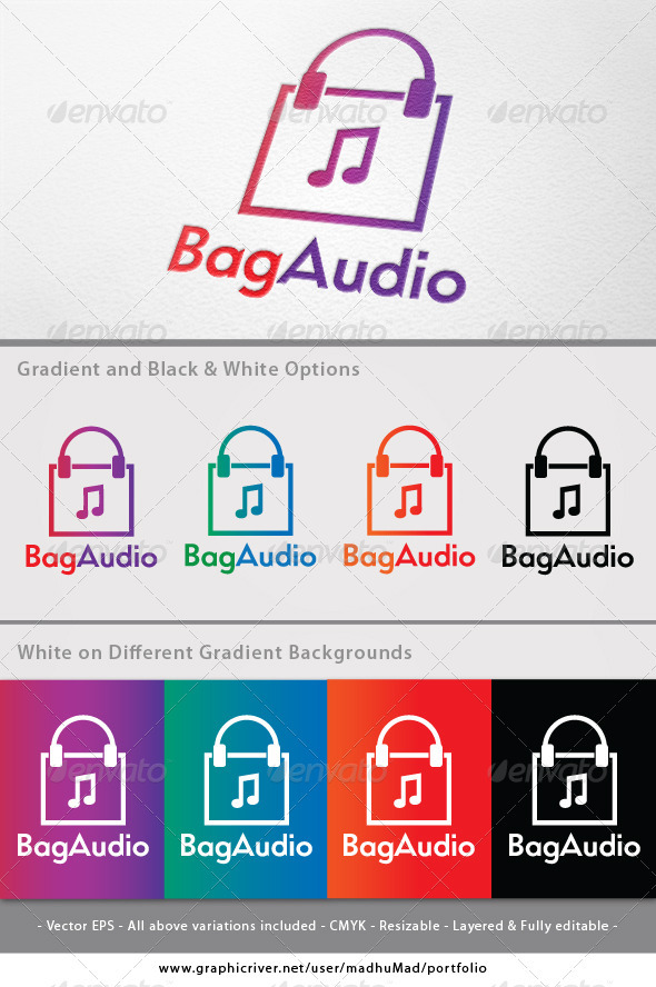 Bag Audio Logo - Symbols Logo Templates