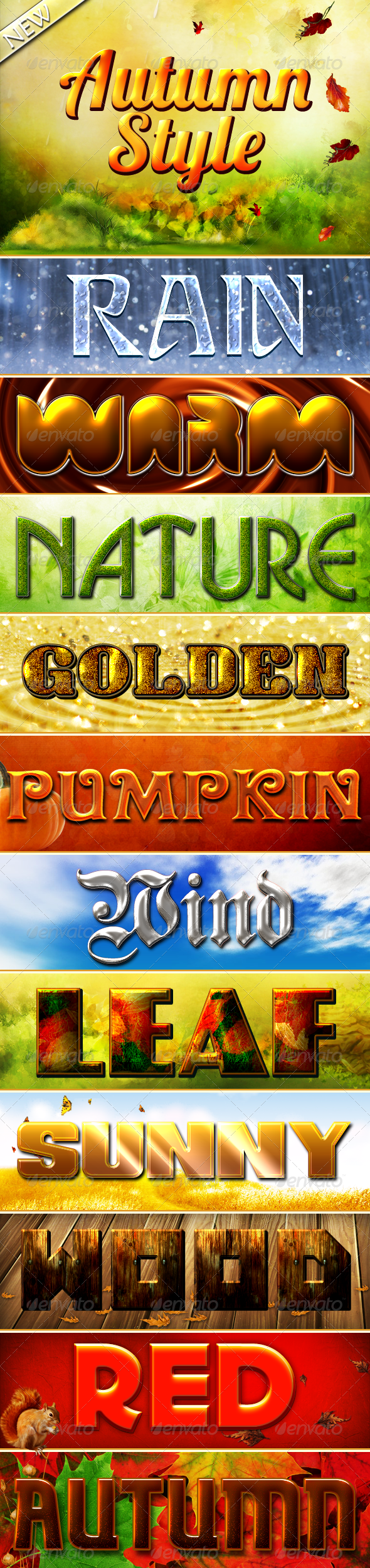 Autumn Styles - Text Effects Styles