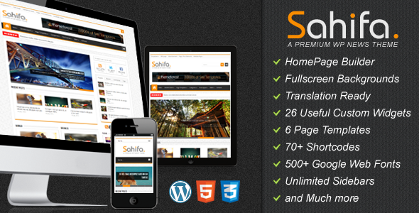 Sahifa - A New Responsive Premium Magazine and Blog WordPress Theme
