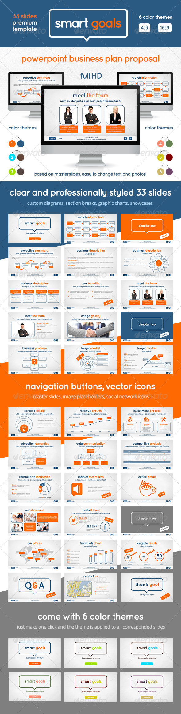 GraphicRiver Smart Goals PowerPoint Template 2837546
