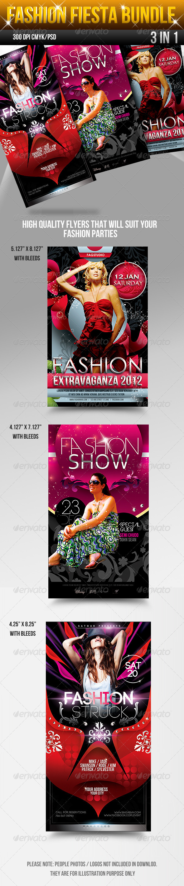 Fashion Fiesta Flyers Bundle - Clubs & Parties Events
