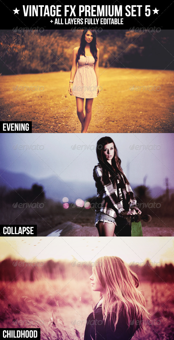Vintage FX Premium Set 5 - Actions Photoshop