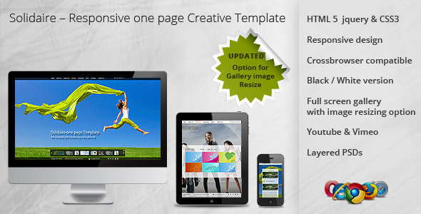 Solidaire  Responsive one page Creative Template - Creative Site Templates