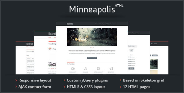 Minneapolis - Responsive HTML Template