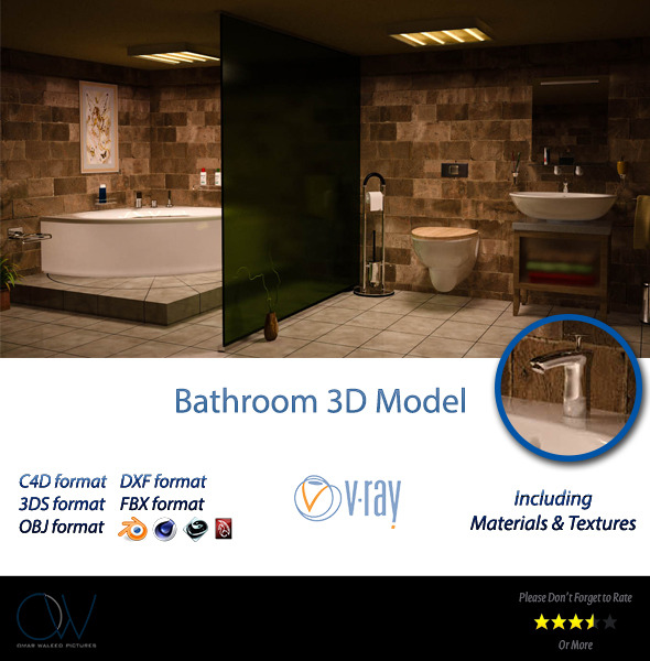3DOcean Bathroom 3D Model 2839248