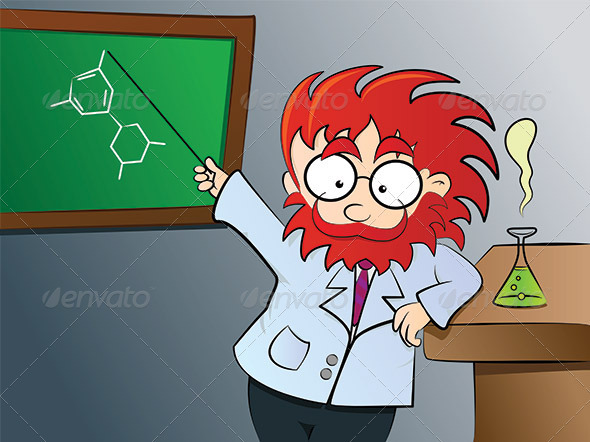GraphicRiver Chemistry teacher in class 2839635