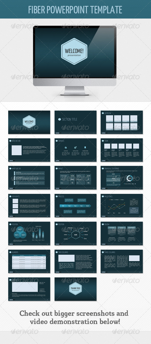 Fiber PowerPoint Template - Powerpoint Templates Presentation Templates