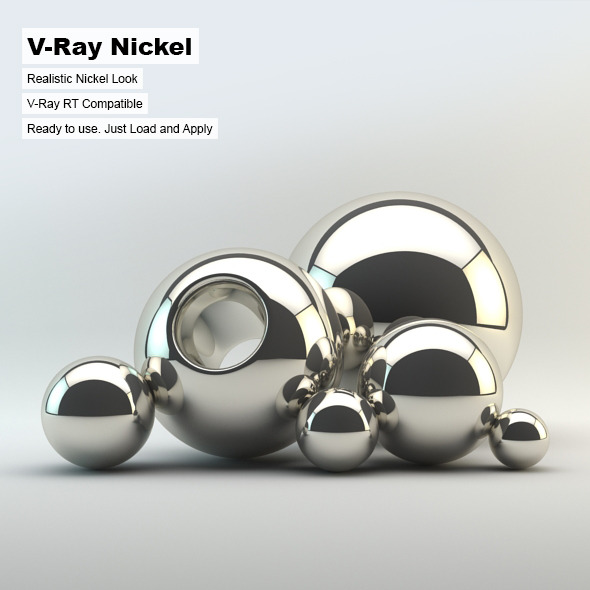 V-Ray Nickel Material - 3DOcean Item for Sale