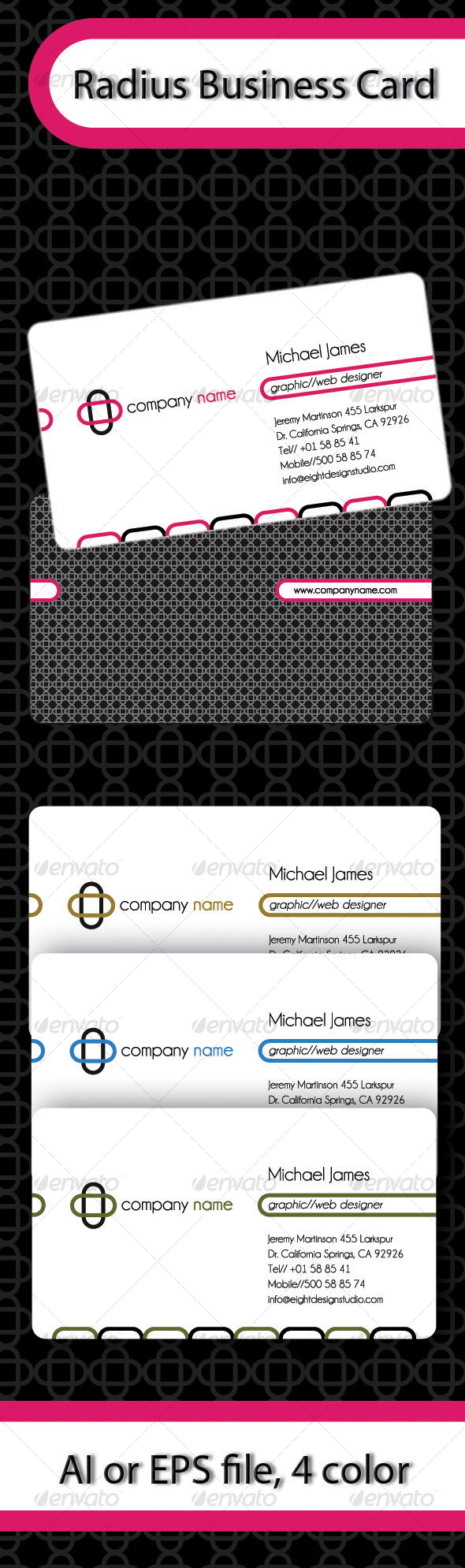 Radius Business Card - Corporate Business Cards