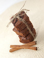Brownie with cinnamon on the textile background - PhotoDune Item for Sale
