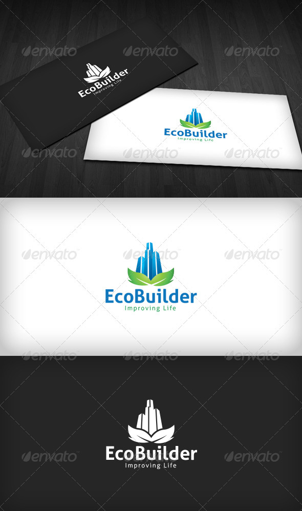 Eco Builder Logo - Buildings Logo Templates