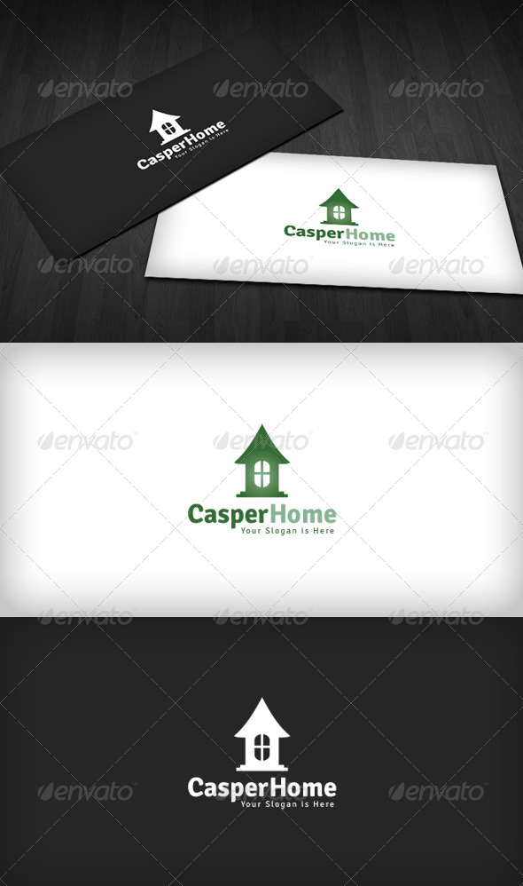 Casper Home Logo - Buildings Logo Templates