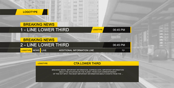 VideoHive Lower Third Black 2843562