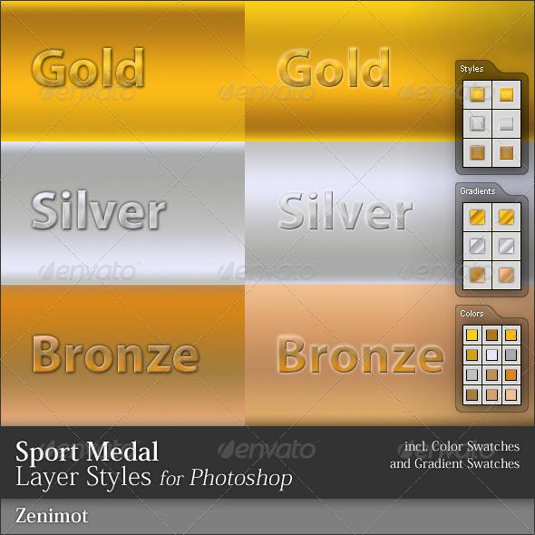GraphicRiver Sports Medal Layer Styles 50964