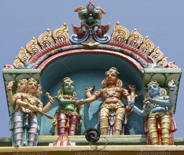 Kapaleeswarar temple in Chennai - Stock Photo - Images