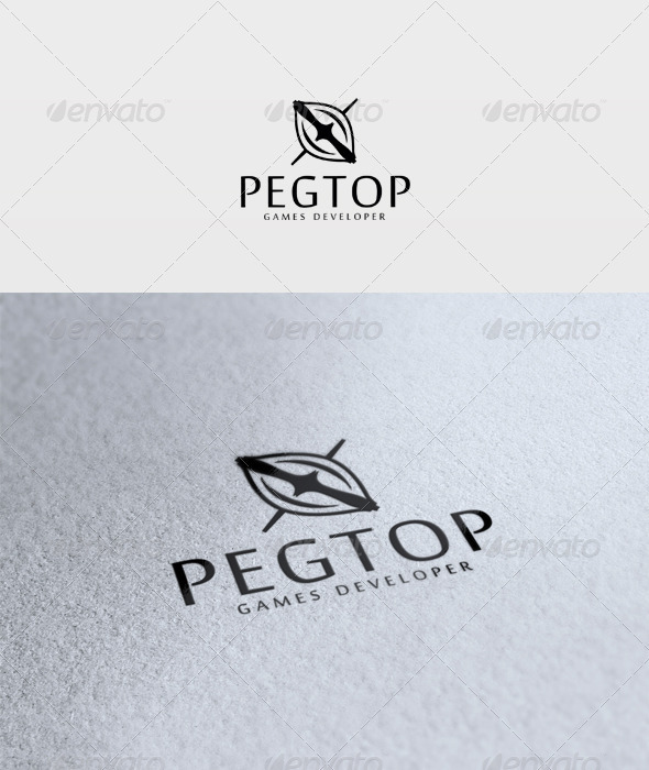 Pegtop Logo - Vector Abstract