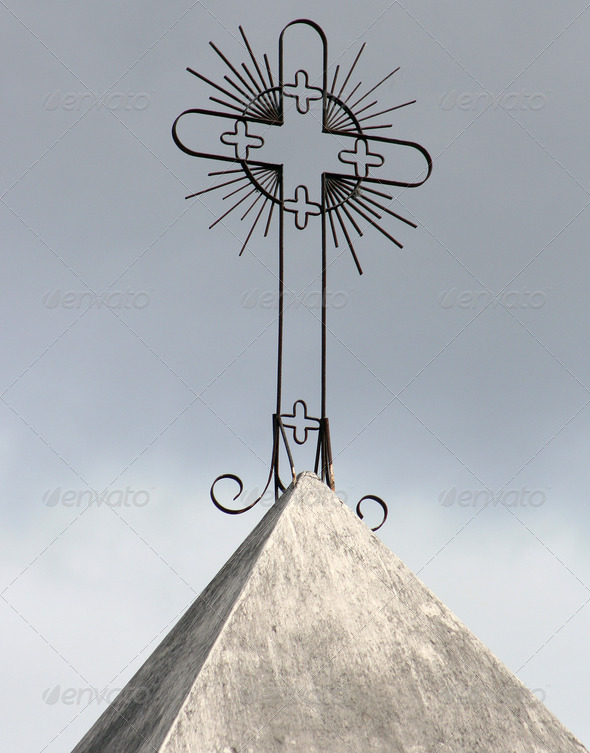Cross on a Catholic Church - Stock Photo - Images