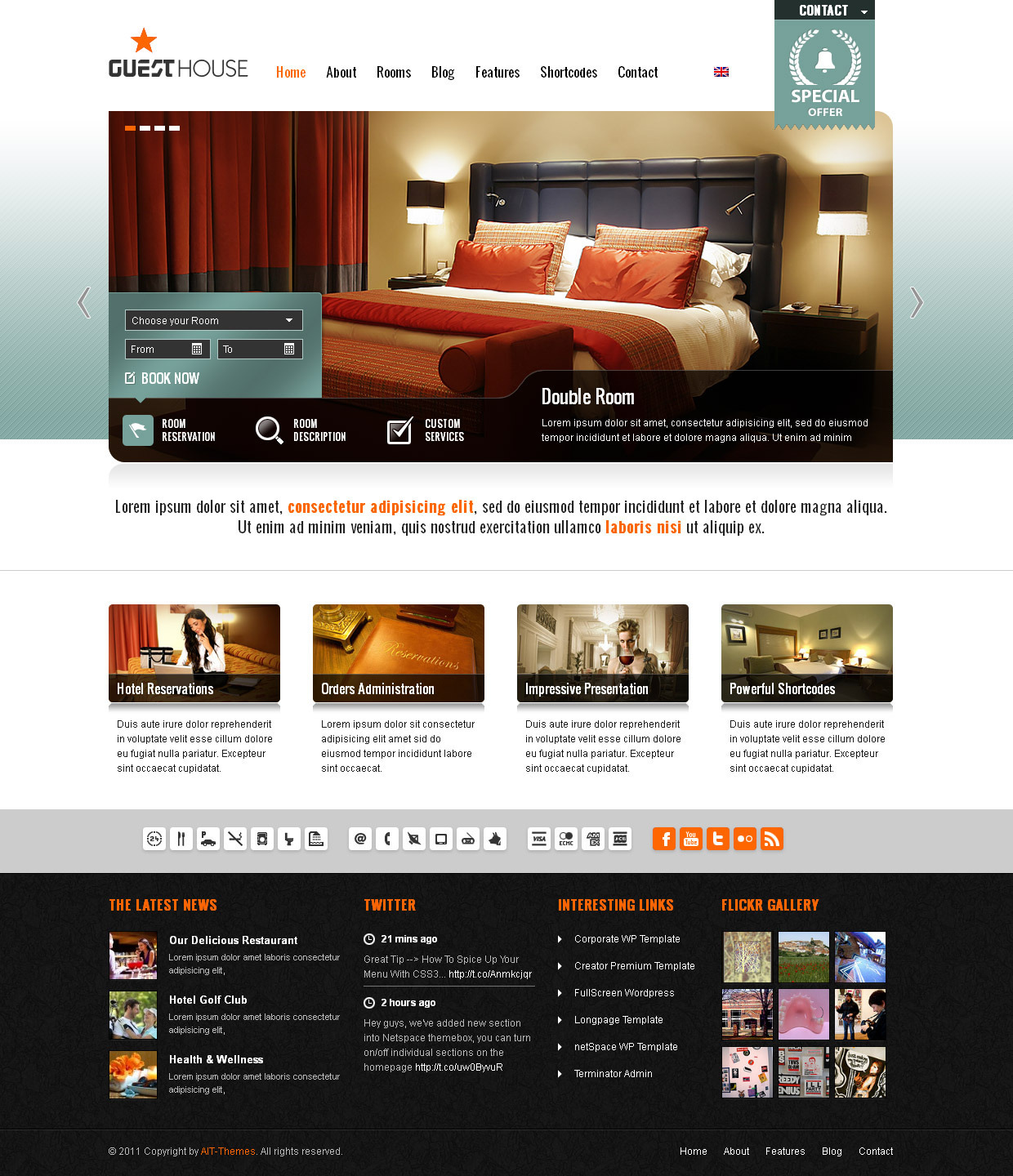 Guesthouse - Hotel & Sport Center 2in1 Premium Theme