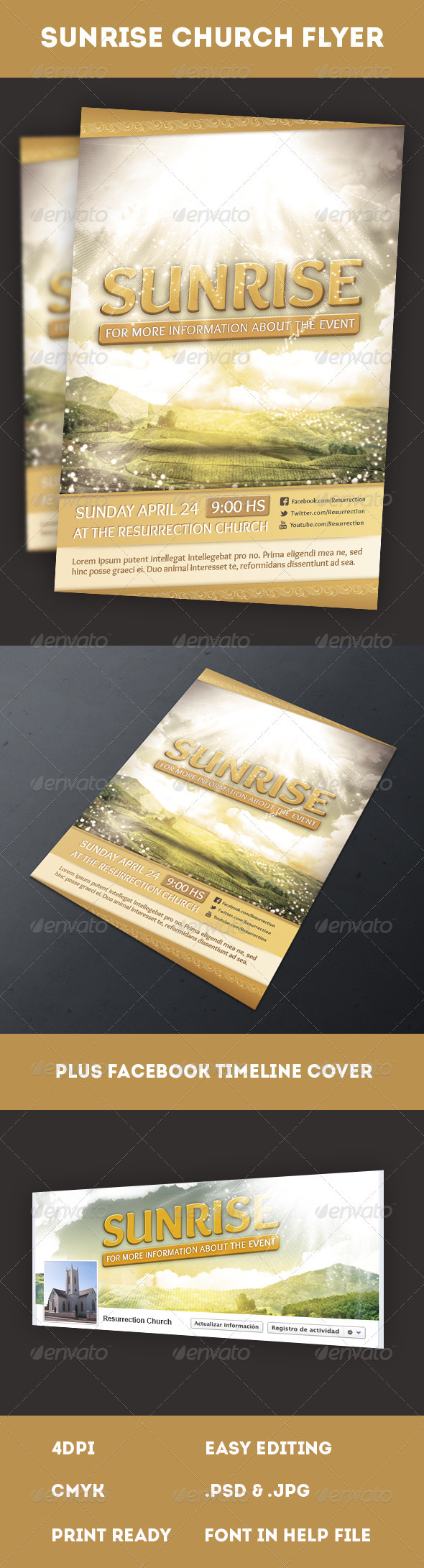 Sunrise Flyer - Church Flyers