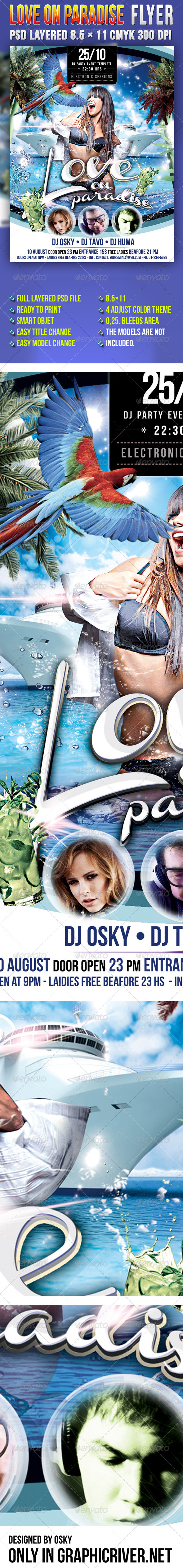 Love On Paradise - Clubs & Parties Events