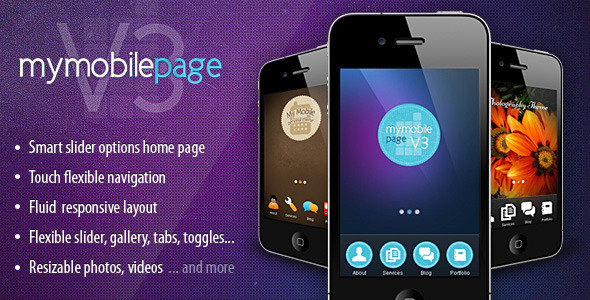 My Mobile Page V3 CSS/Html - Mobile Site Templates
