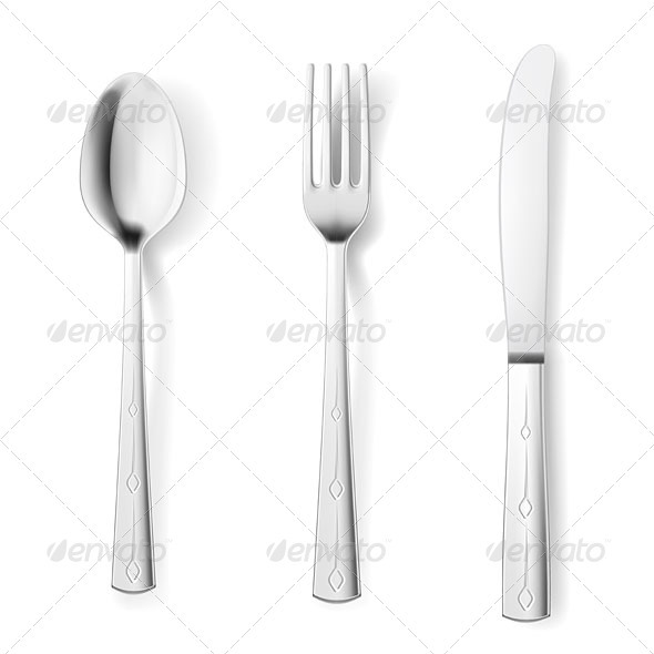 Cutlery fork spoon knife - Man-made objects Objects