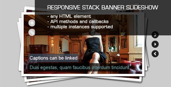 JQuery Stack Banner Slideshow with Captions - CodeCanyon Item for Sale