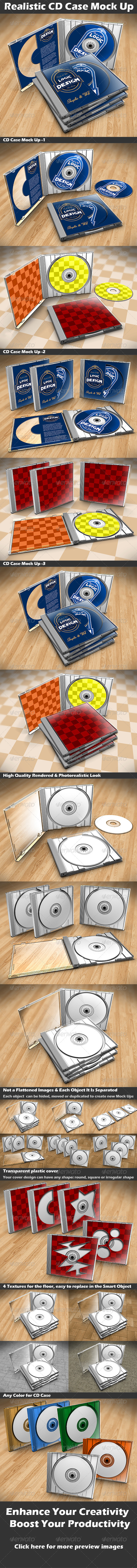 CD Case Mock Up - Discs Packaging
