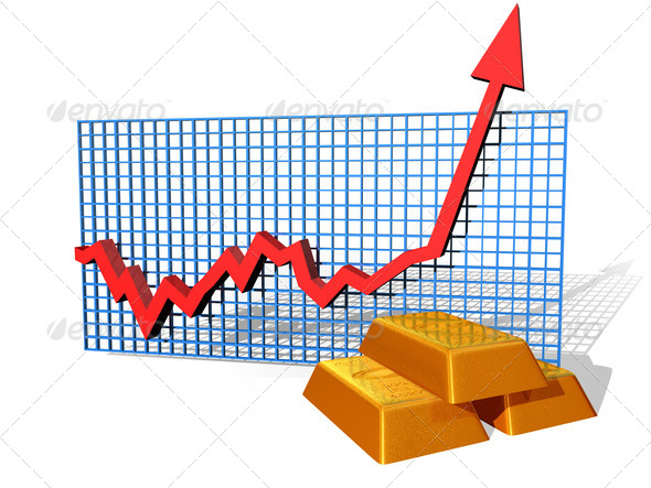 Gold chart - Stock Photo - Images