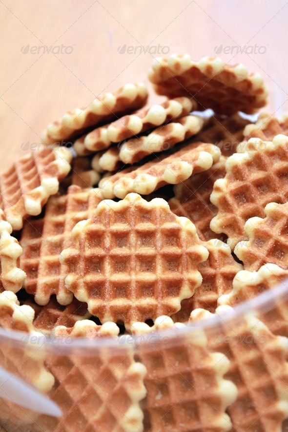 wafer cookies - Stock Photo - Images