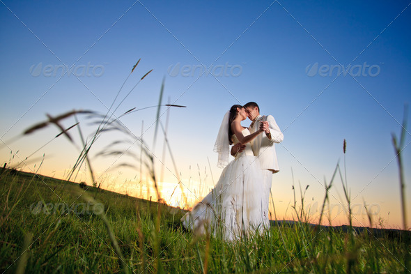 Wedding sunset - Stock Photo - Images
