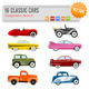 16 Vector classic cars - GraphicRiver Item for Sale