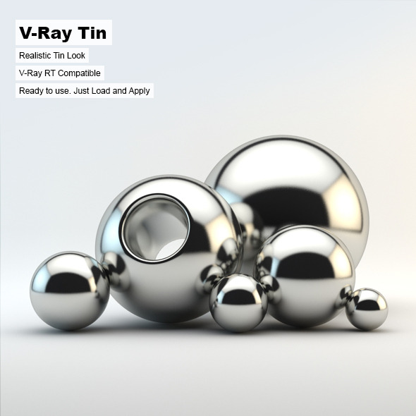 V-Ray Tin Material - 3DOcean Item for Sale