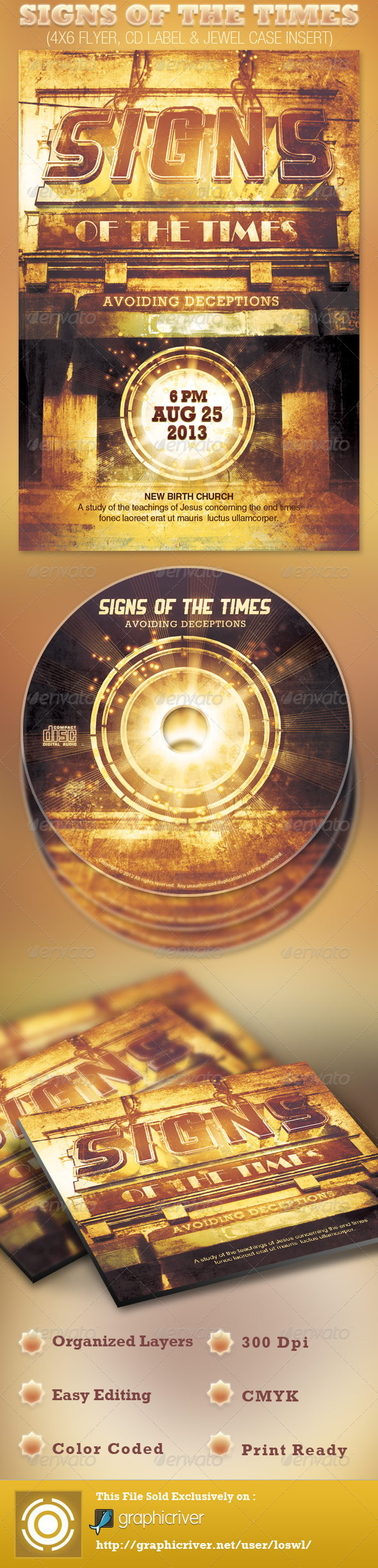 Signs of the Times Church Flyer and CD Template - Church Flyers