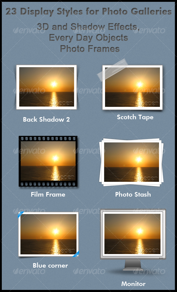 GraphicRiver 23 Display Styles for Photo Galleries 100592