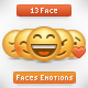 Face with Emotions - GraphicRiver Item for Sale