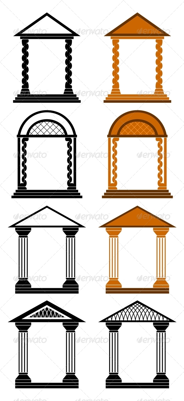 Decorative arches. - Buildings Objects