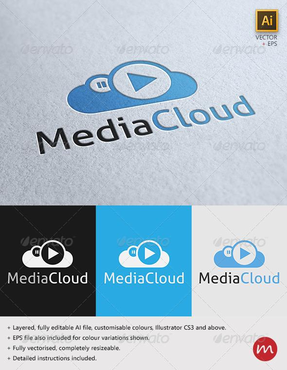 GraphicRiver MediaCloud Logo Template 2797909