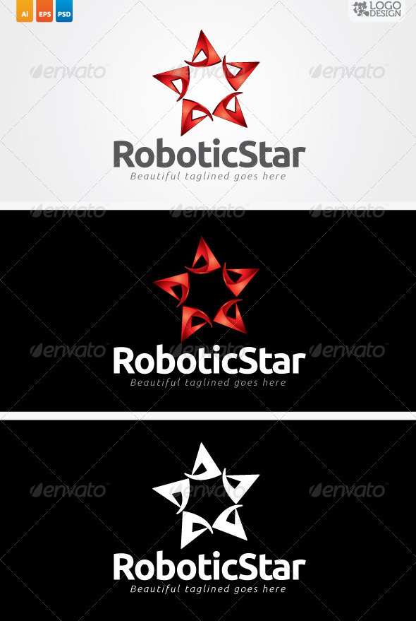 Robotic Star - Symbols Logo Templates